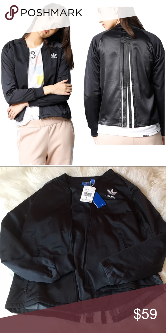 Nwt Adidas Original Zip Crew Pleated Carbon Jacket Brand New With