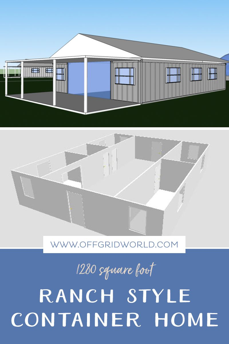 1280sqft 3br 1ba Shipping Container Home For 25k Container
