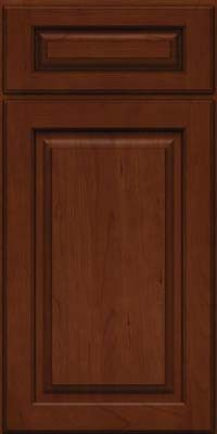 KraftMaid Cabinets -Arch Raised Panel - Solid (PWC) Cherry in Autumn Blush w/Onyx Glaze from building products
