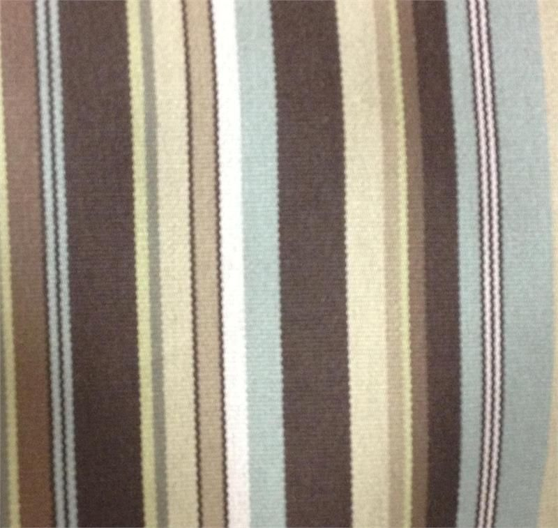This fabric has brown,spa blue,off white, and green colors ...