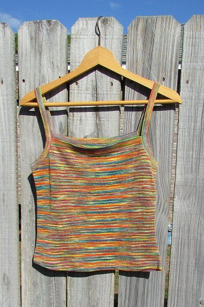 Eco Friendly Organic Knit Rainbow Blouse - Latex Free hypoallergenic women's tops, made in the USA in small to plus sizes.