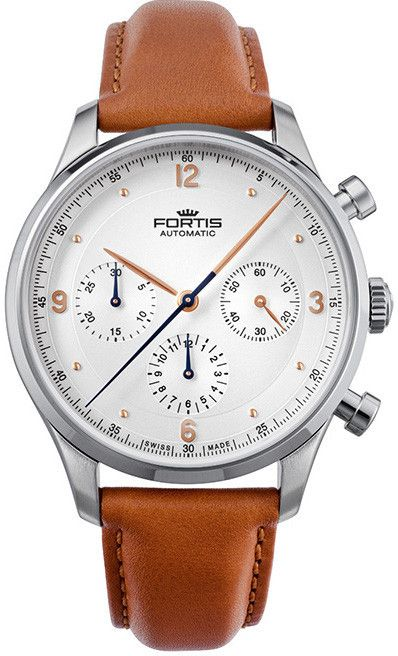 Fortis Watch Terrestis Tycoon Chronograph A.M. #basel-15 #bezel-fixed #bracelet-strap-leather #brand-fortis #case-depth-13-59mm #case-material-steel #case-width-41mm #chronograph-yes #delivery-timescale-call-us #dial-colour-silver #gender-mens #luxury #movement-automatic #new-product-yes #official-stockist-for-fortis-watches #packaging-fortis-watch-packaging #style-dress #subcat-terrestis #supplier-model-no-904-21-12-l-28 #warranty-fortis-official-2-year-guarantee #water-resistant-50m