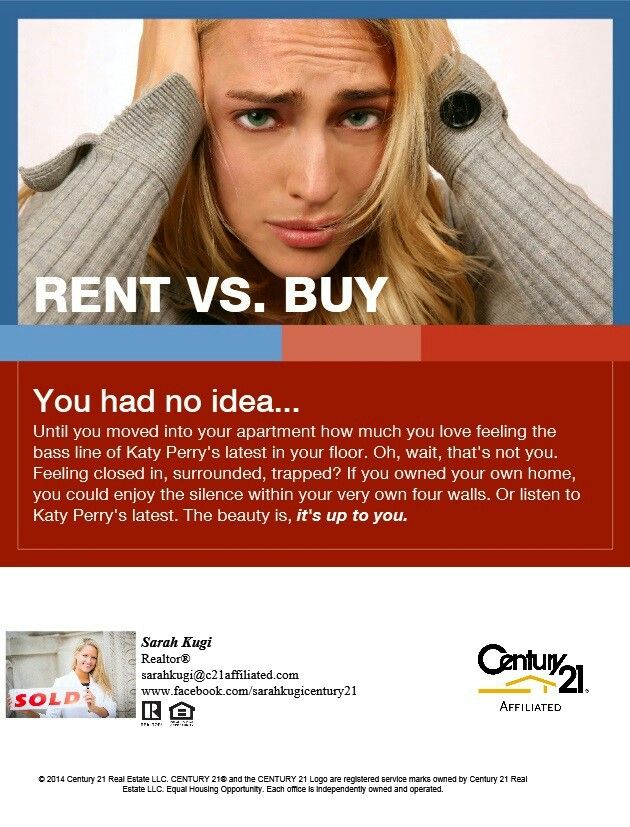 Rent vs buying. Real estate info
