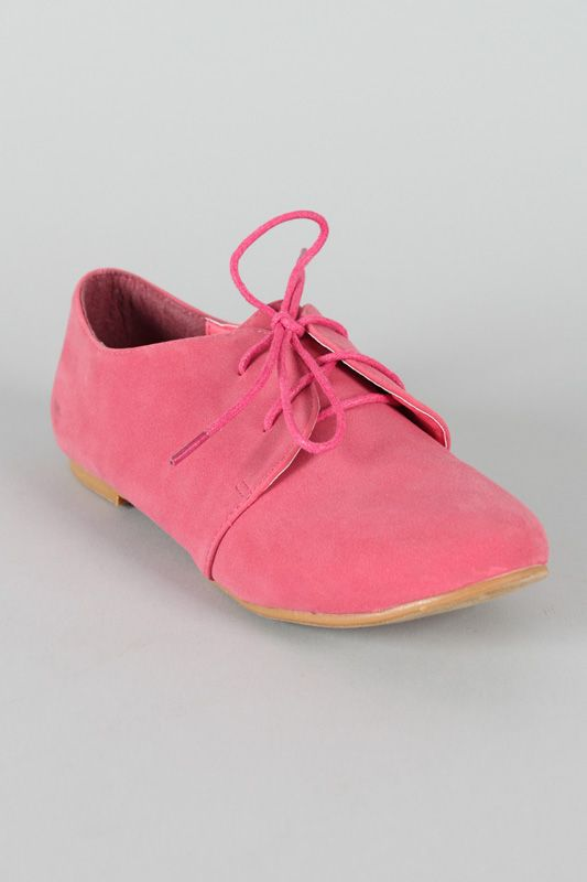 Sue-1 Lace Up Round Toe Oxford Flat $18.40