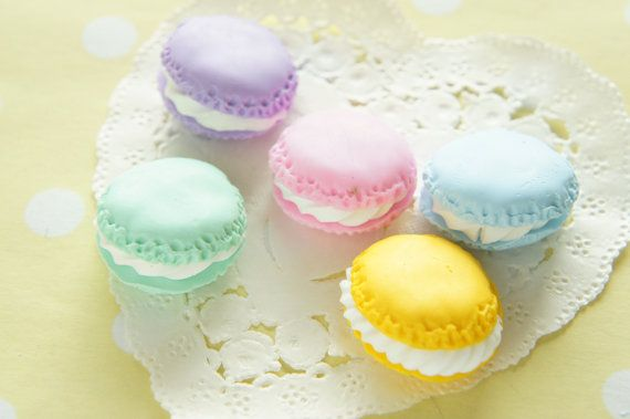 Only One Set Available 5 pcs Polymer Clay Macaroon by misssapporo