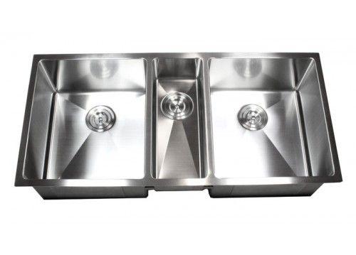 42 Inch Stainless Steel Undermount Triple Bowl Kitchen Sink 15mm Radius Design 16 Gauge Undermount Kitchen Sinks Kitchen Bowl Designs