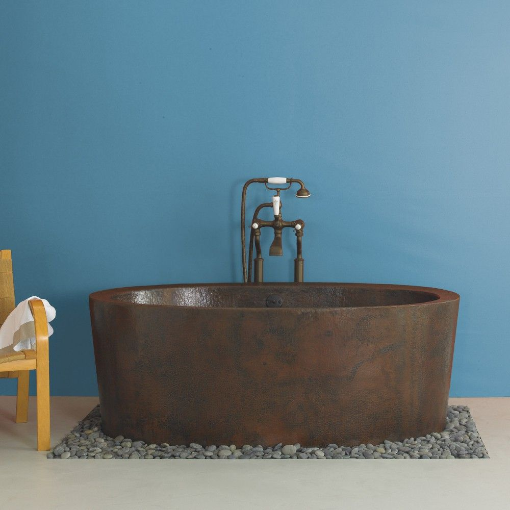 Aspen 64 Inch Hammered Copper Soaking Tub Copper Bathtubs Copper Soaking Tub Free Standing Bath Tub