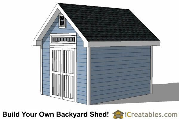 10x12 Traditional Victorian Style Storage Shed Plans Right Side Storage Shed Plans 10x10 Shed Plans Shed Design