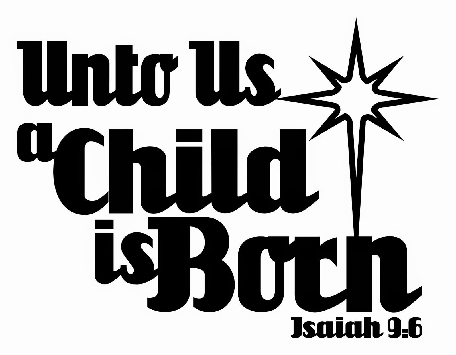 Leighs Paper Creation: Unto Us a Child is Born Free Digital Stamp and SVG...