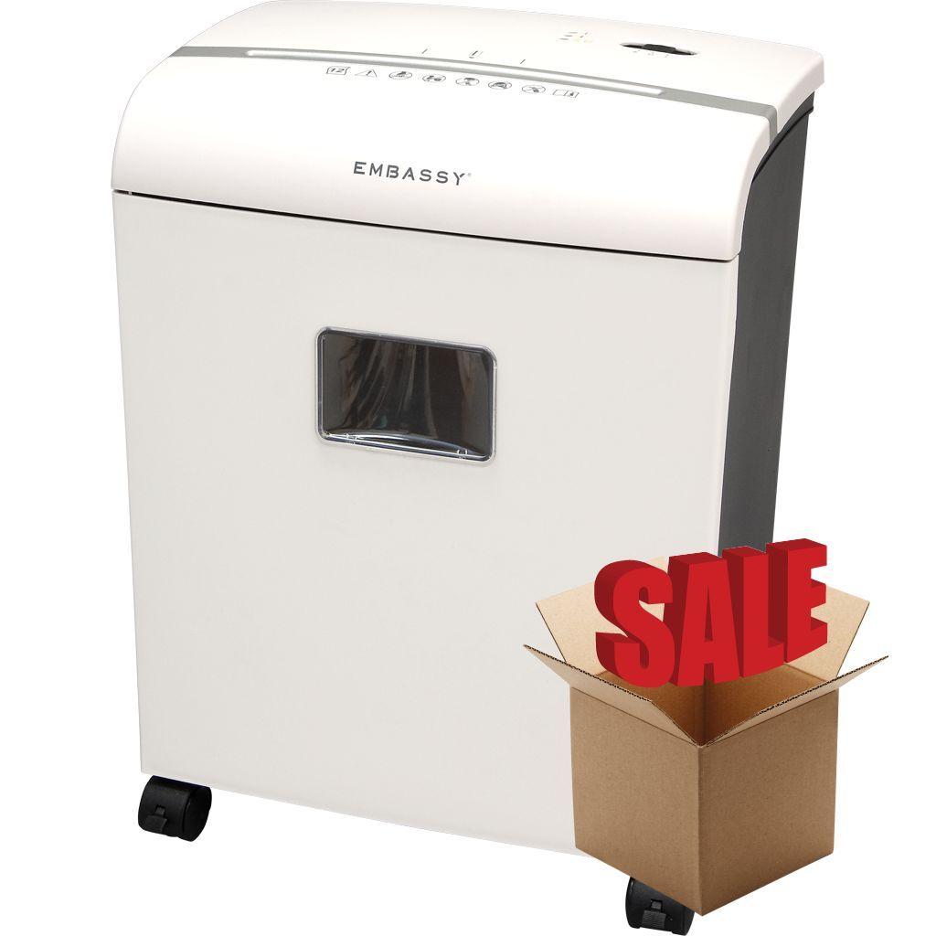 Embassy® 12 Sheet Microcut Paper Shredder LM121Pi-R White OPEN BOX