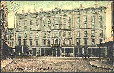 Portland Maine Me 1908 New Falmouth Hotel Collectible Antique Vintage Postcard