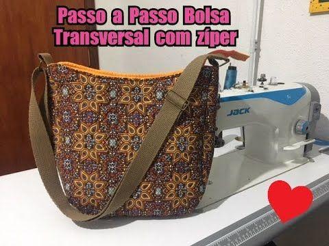 e25a0c91f videó részletes magyarázattal----DIY - Passo a Passo Bolsa Sofia - Bolsa  transversal com zíper