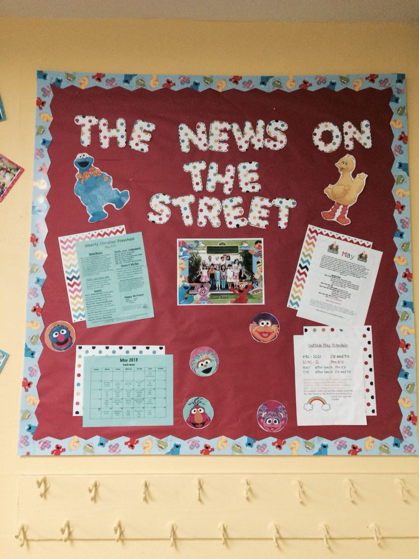 Sesame Street Theme Preschool Parent Board My Sesame