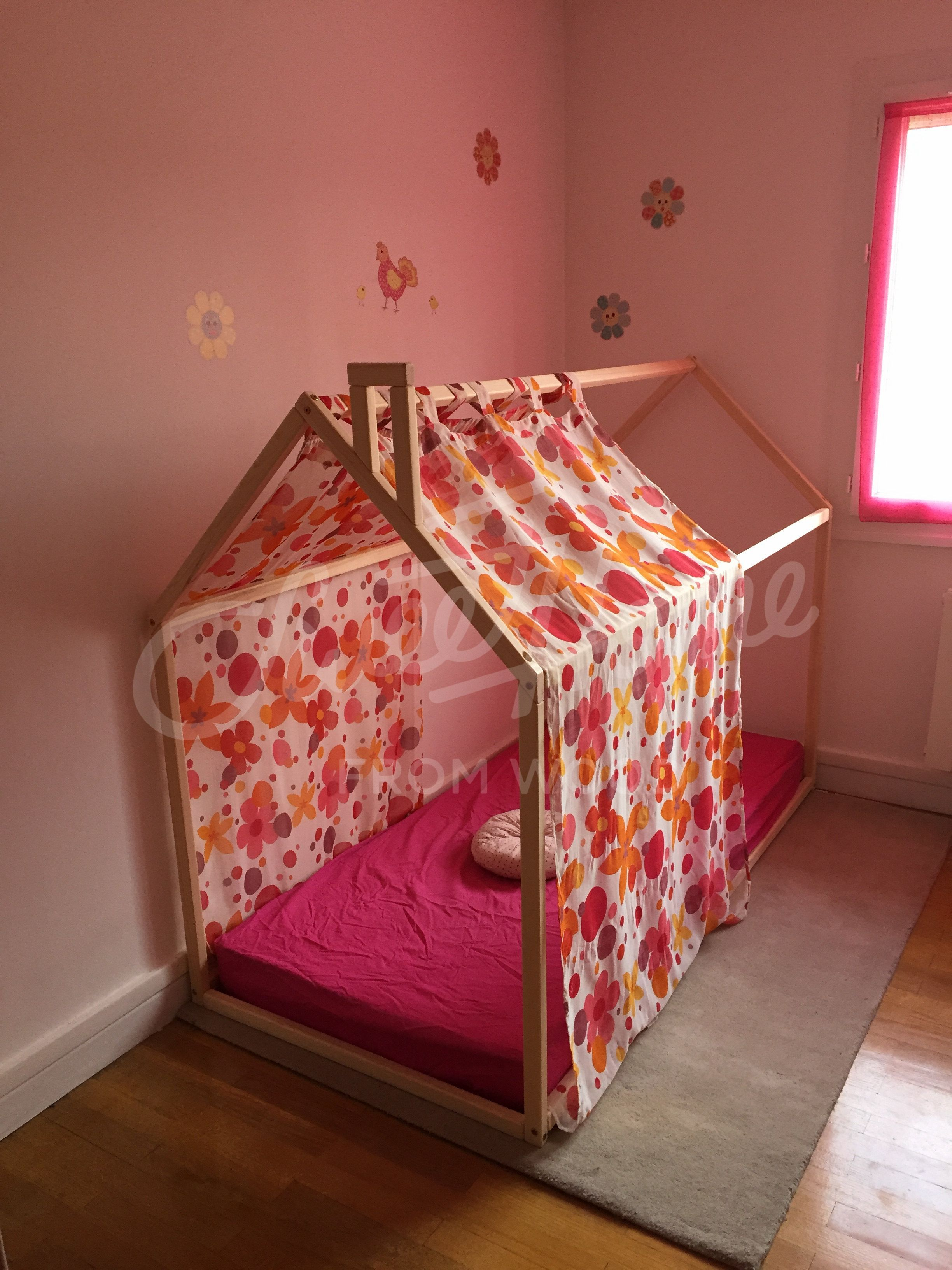 timeless design 496a0 b9b86 Toddler bed, House bed, Children bed, Wooden house, Tent bed ...