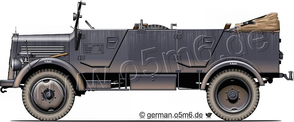 "Engines of the Wehrmacht - ""Mercedes L1500A"", 1.5-ton, 4x4, Troop Carrier"
