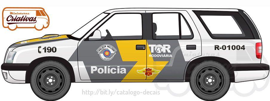 Blazer Pmesp Tor Rodoviaria Carro De Policia Carros De Servico