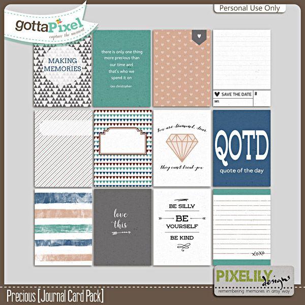 Precious [Journal Card Pack] :: Gotta Pixel Digital Scrapbook Store by Pixelily Designs $2.00
