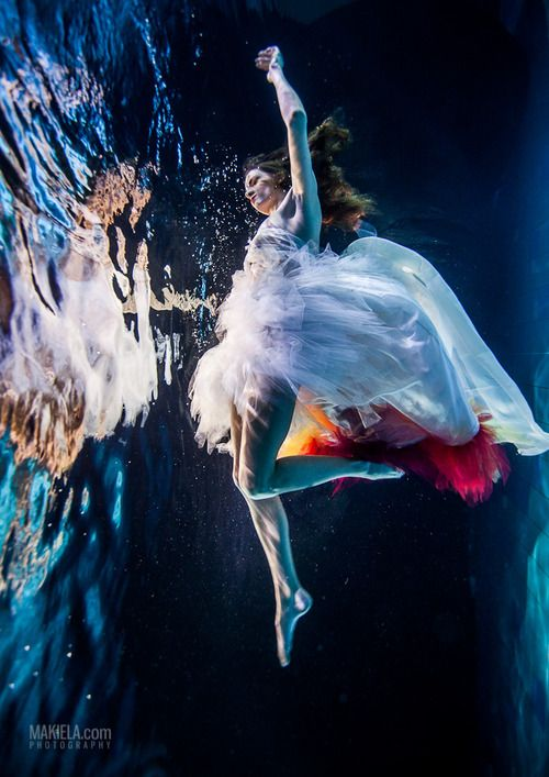Fashion Photography Woman Underwater
