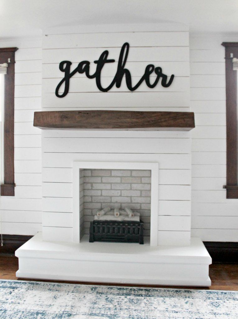 I'm so excited to be sharing our DIY Shiplap Fireplace ...