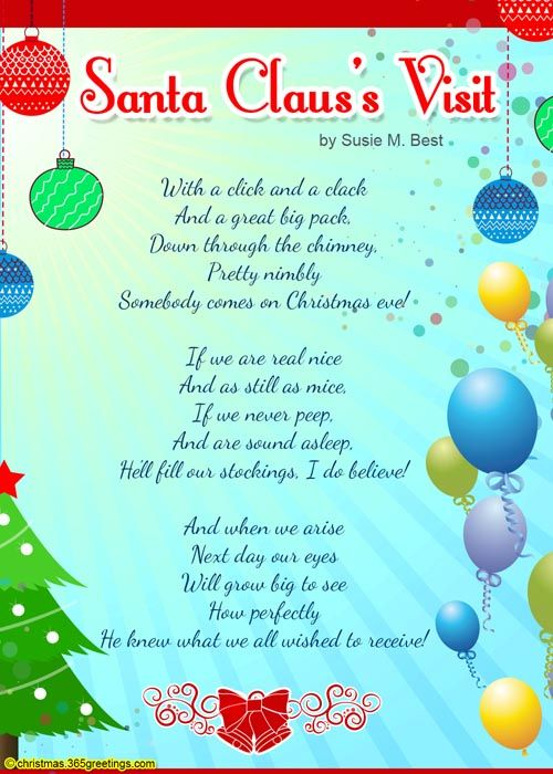 Christmas Poems For Kids | Stocking ideas, Christmas blessings and ...