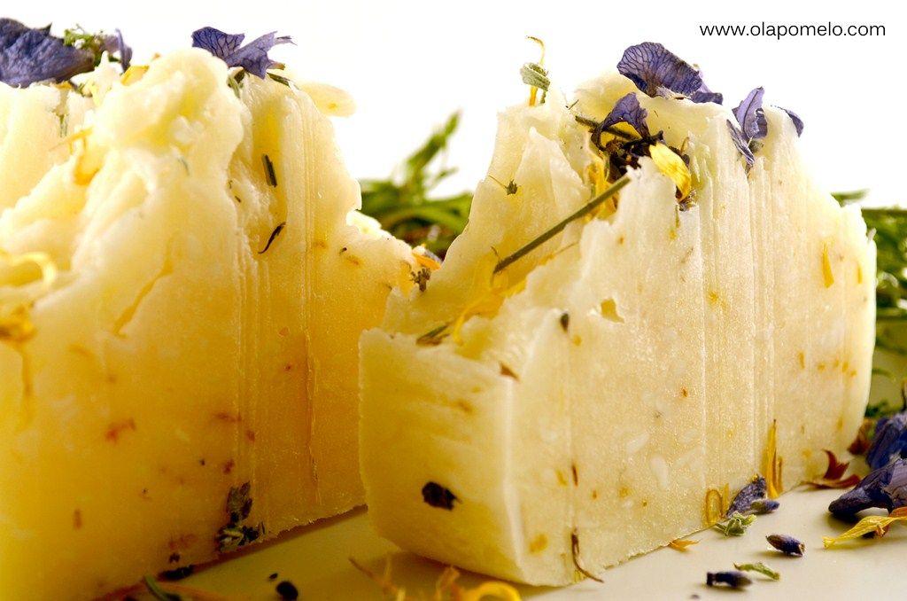 """Lavender Calendula"" All Natural Cold Process Shea Butter Soap"