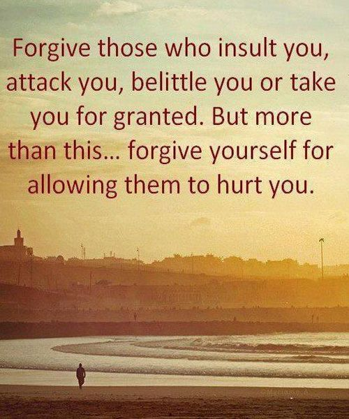 Forgive Yourself For Allowing - Popular Friendship Quote