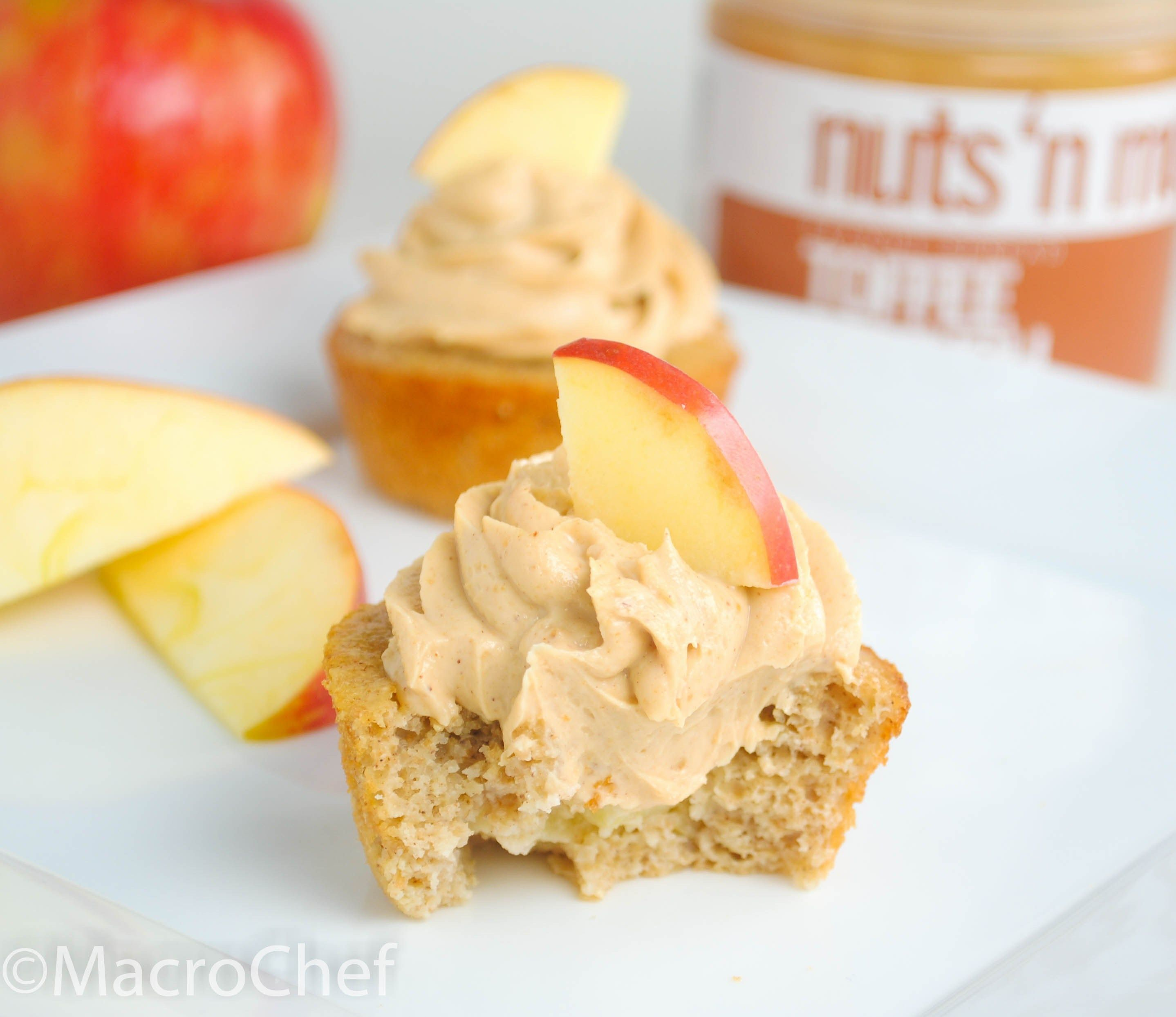 Apple Peanut Butter Protein Cupcakes | MacroChef MacroChef
