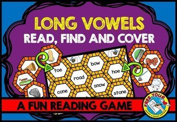 Long vowels game: read, find and cover