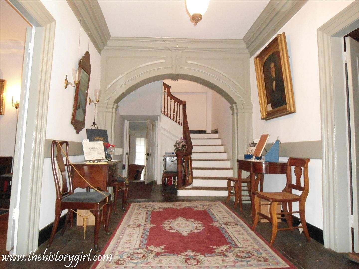 The Main Foyer Of The Historic Burrowes Mansion Located In Matawan Nj Built In 1723 This Georgian Style Mansion Was Built By J Home Sweet Home History Girl