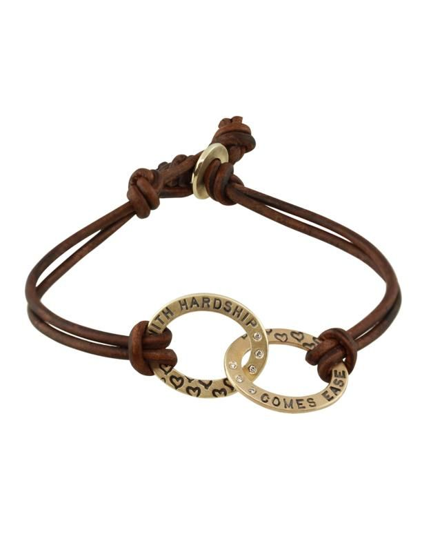 Heather Moore Braclet with leather band!