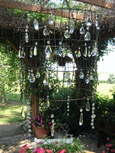 Wonderful Outdoor Chandelier   Love The Crystals