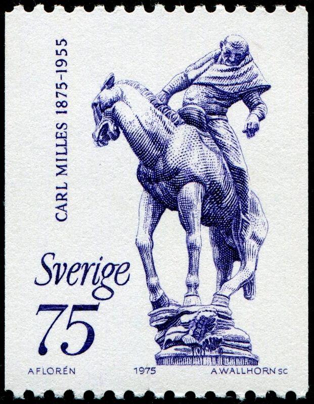 Sweden 75ö Carl Milles 1975, Arne Wallhorn sc. Old