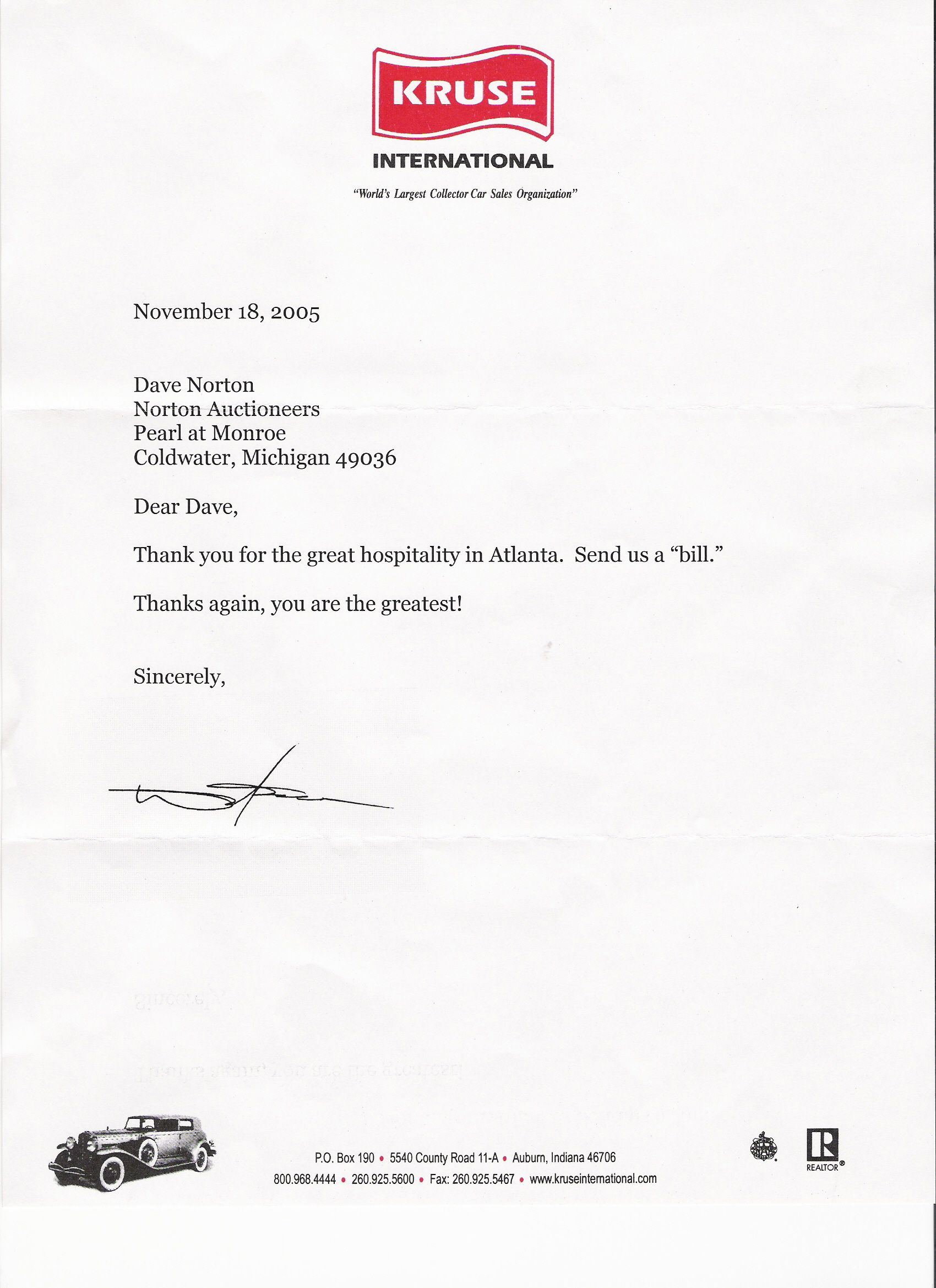 thank you letter for hospitality formal gallery letter format