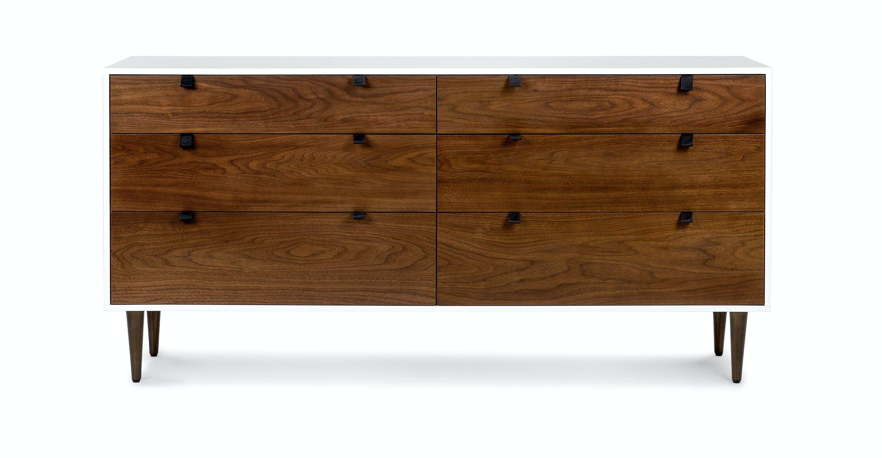 Envelo White Walnut 6 Drawer Double Dresser Dormitorio Contemporaneo Diseno De Muebles Muebles [ 1500 x 2890 Pixel ]