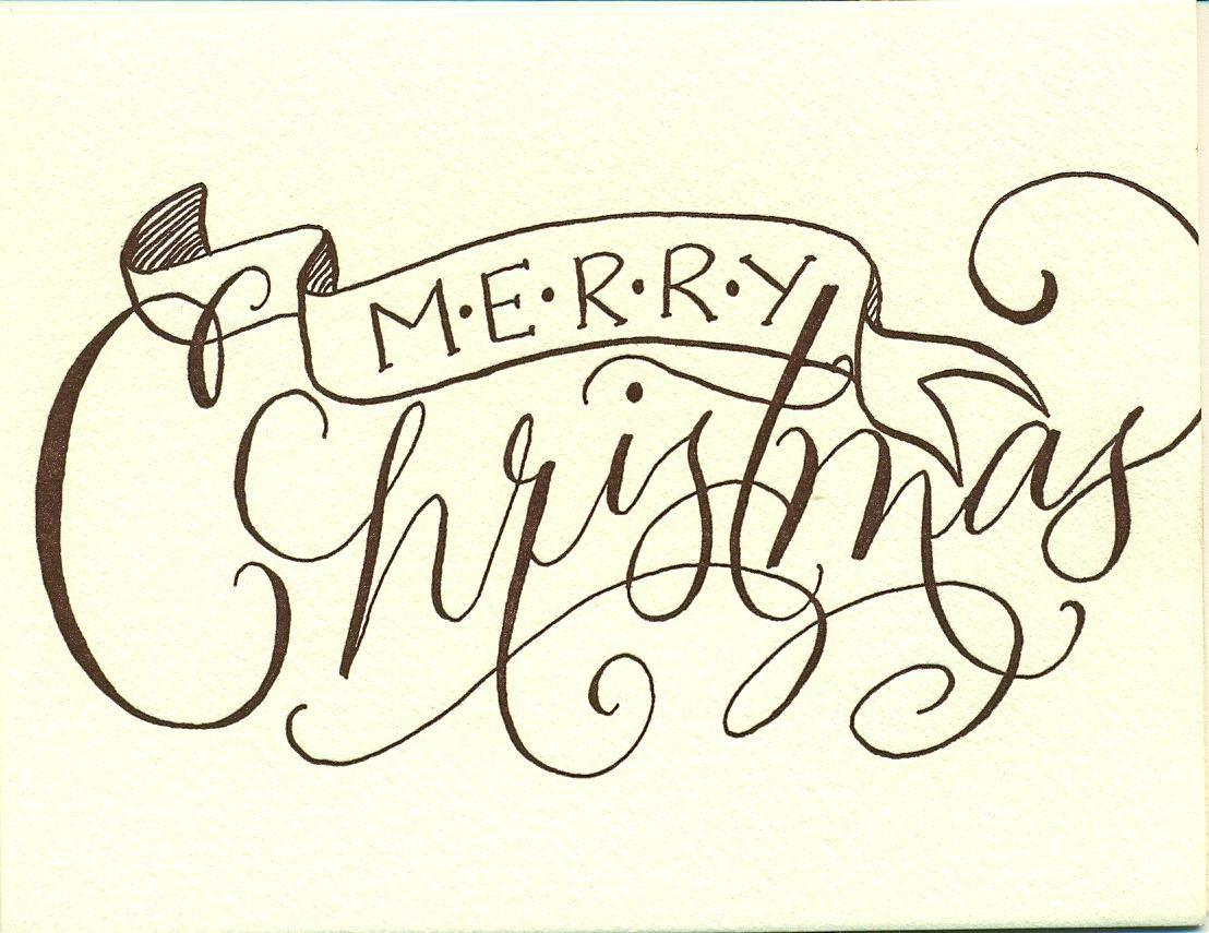 Quot merry christmas and joy flourish techniques video