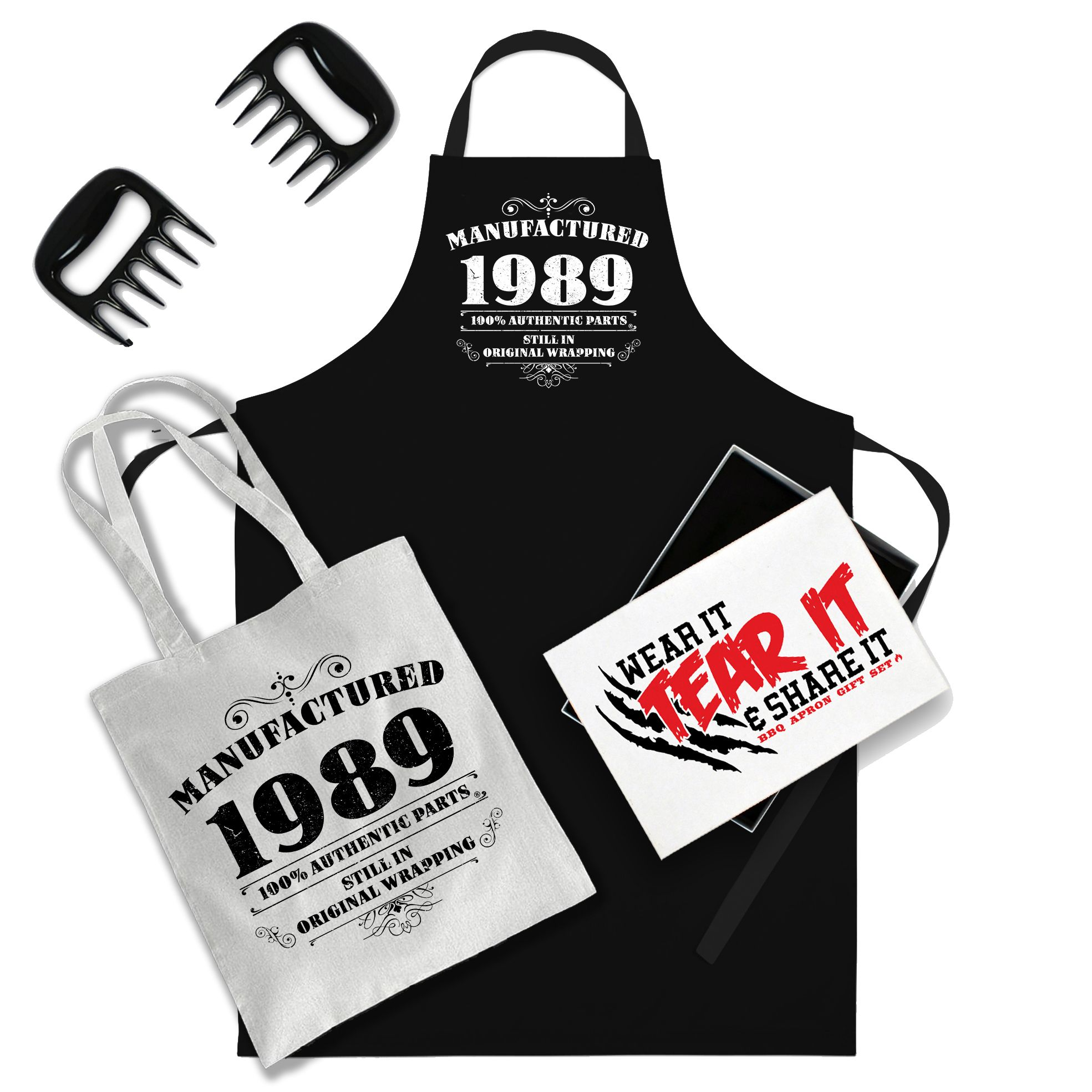 BIRTHDAY Gift Idea Cooks Apron MADE IN 1989 All Original Parts Excellent Gift