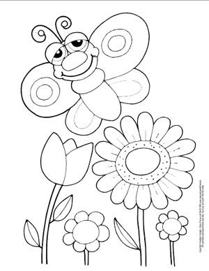 Butterfly Coloring Pages Free Printable from Cute to