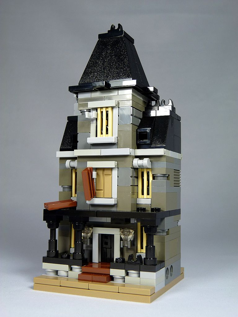 Lego Mini Modulars Moc Haunted House Flickr Photo Sharing