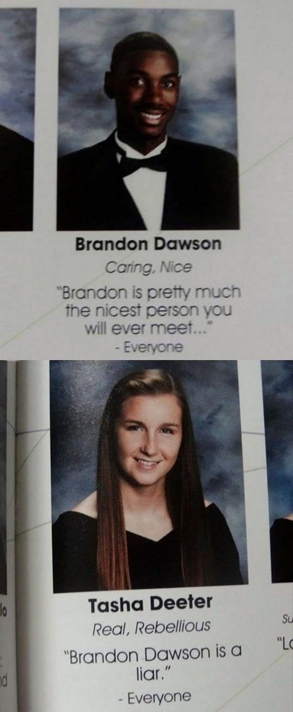 This Heartwarming Love Story Senior Quotes Funny Funny Yearbook Funny School Pictures
