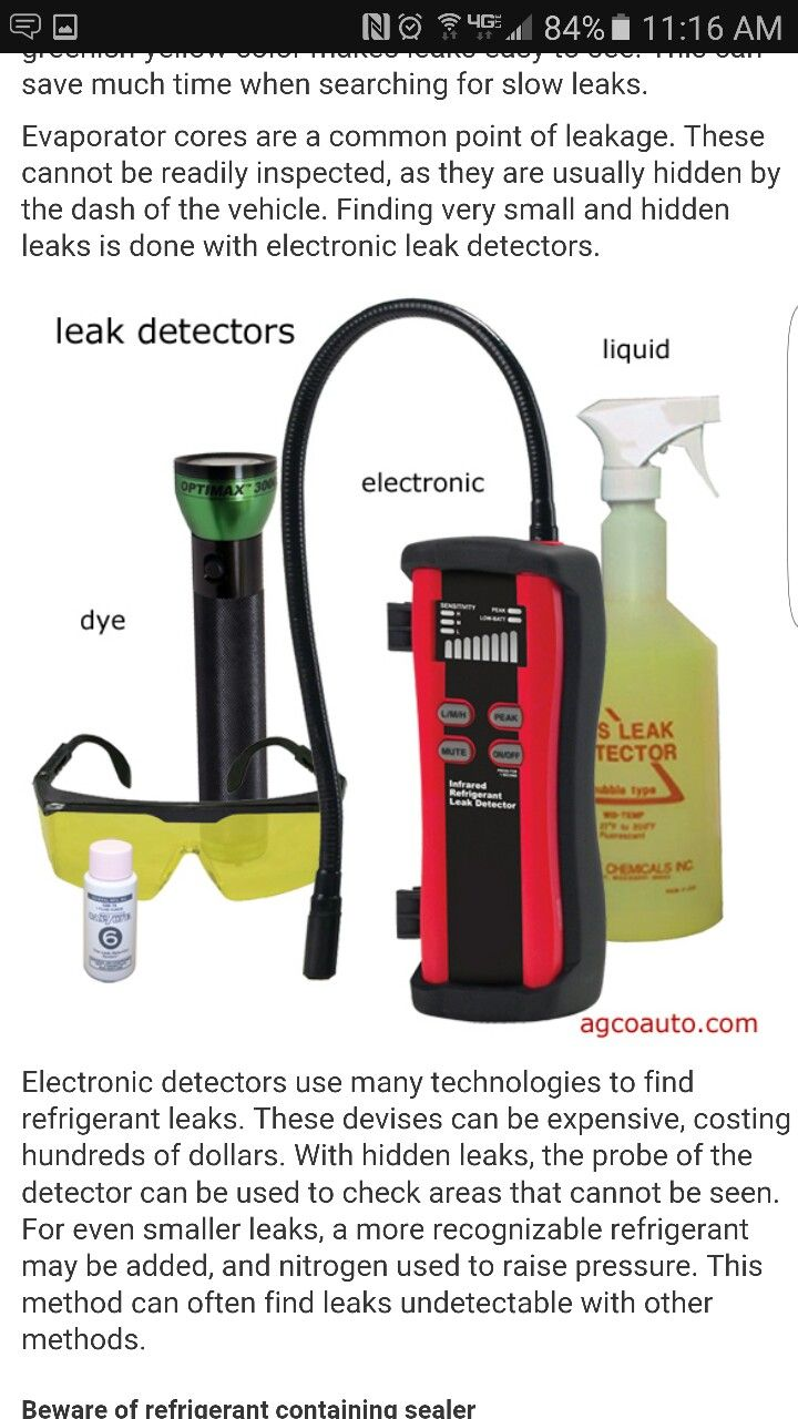 Ac leak detector car maintenance car travel detector