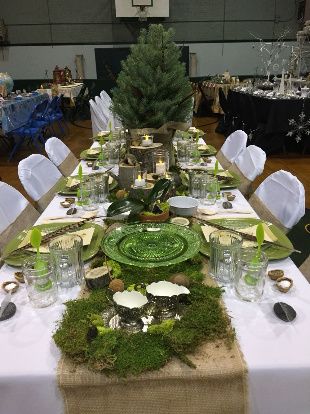 Woodland Themed Table Decorations Settings Table Decorations