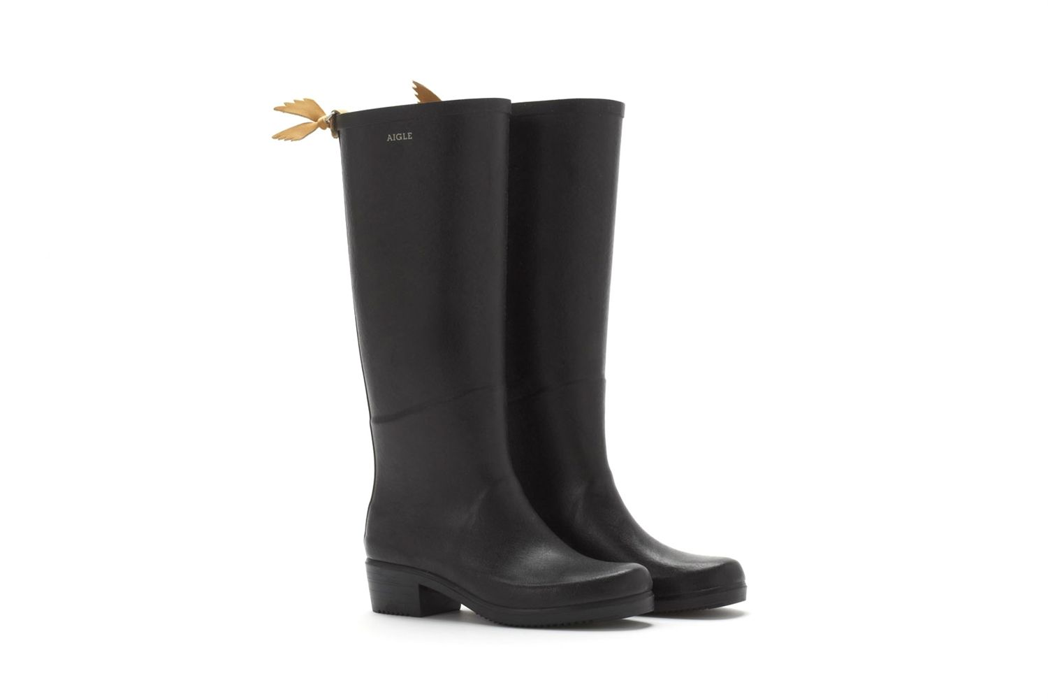 Aigle Boots Miss Juliette - Black, ON SALE NOW!! $140 Perfect for the nasty, muggy, cold and rainy weather.. hommelafemme.com