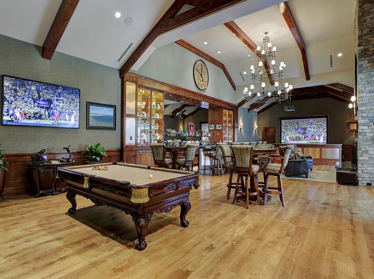 Man Cave Fort Nelson : Game room houston texas :: billiards games and theater with a