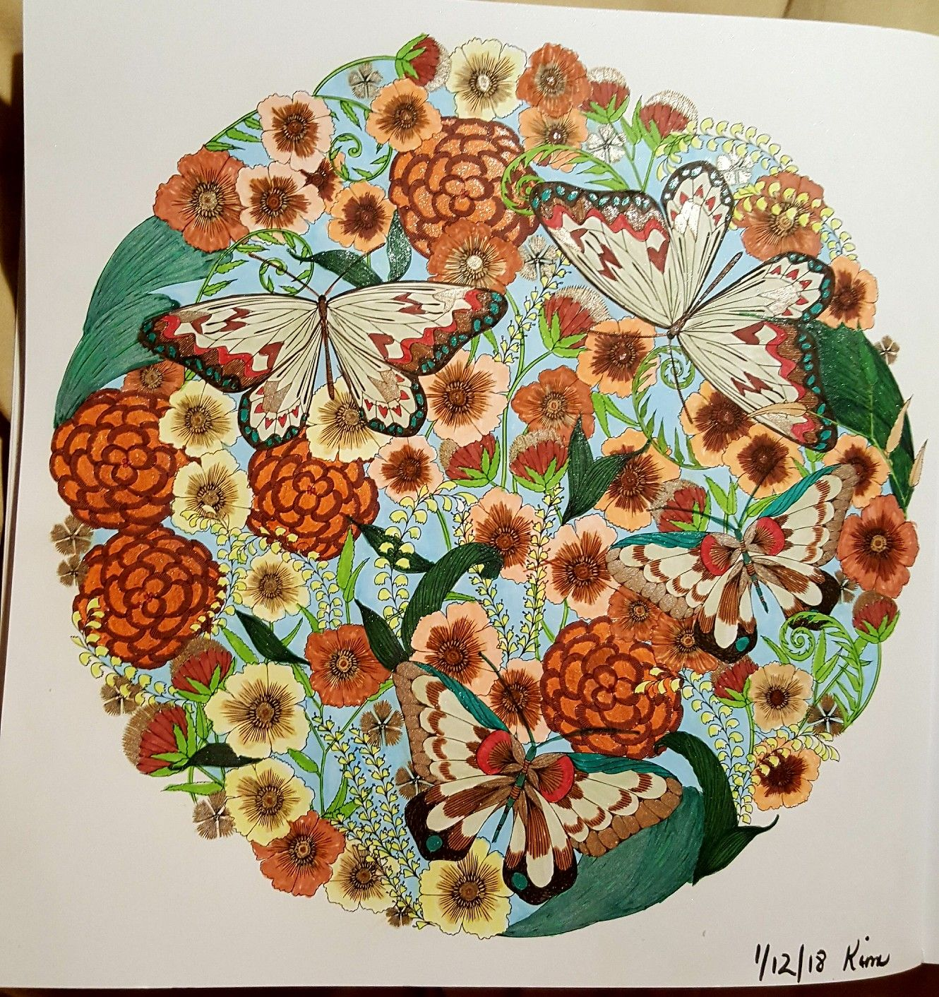 Millie Marotta Coloring Book Used Pitt Artist Pens By Faber Castell And A Few Glitter Pens For Millie Marotta Coloring Book Pitt Artist Pens Millie Marotta