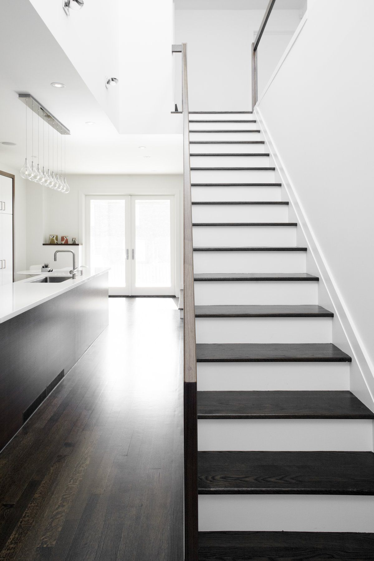 Modern Stairs Staircase in small modern home with minimalist