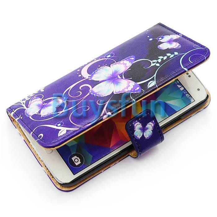S5 Card Case | Butterfly Style Fashion Wallet Case, with Card Slots for Credit Card ...