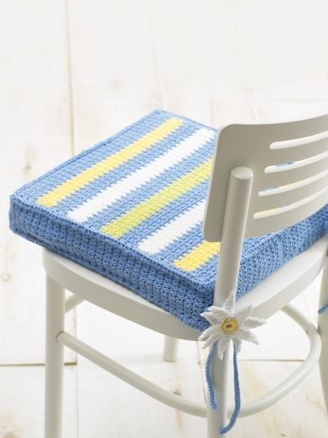 Chair Cushion Yarn Free Knitting Patterns Crochet Patterns