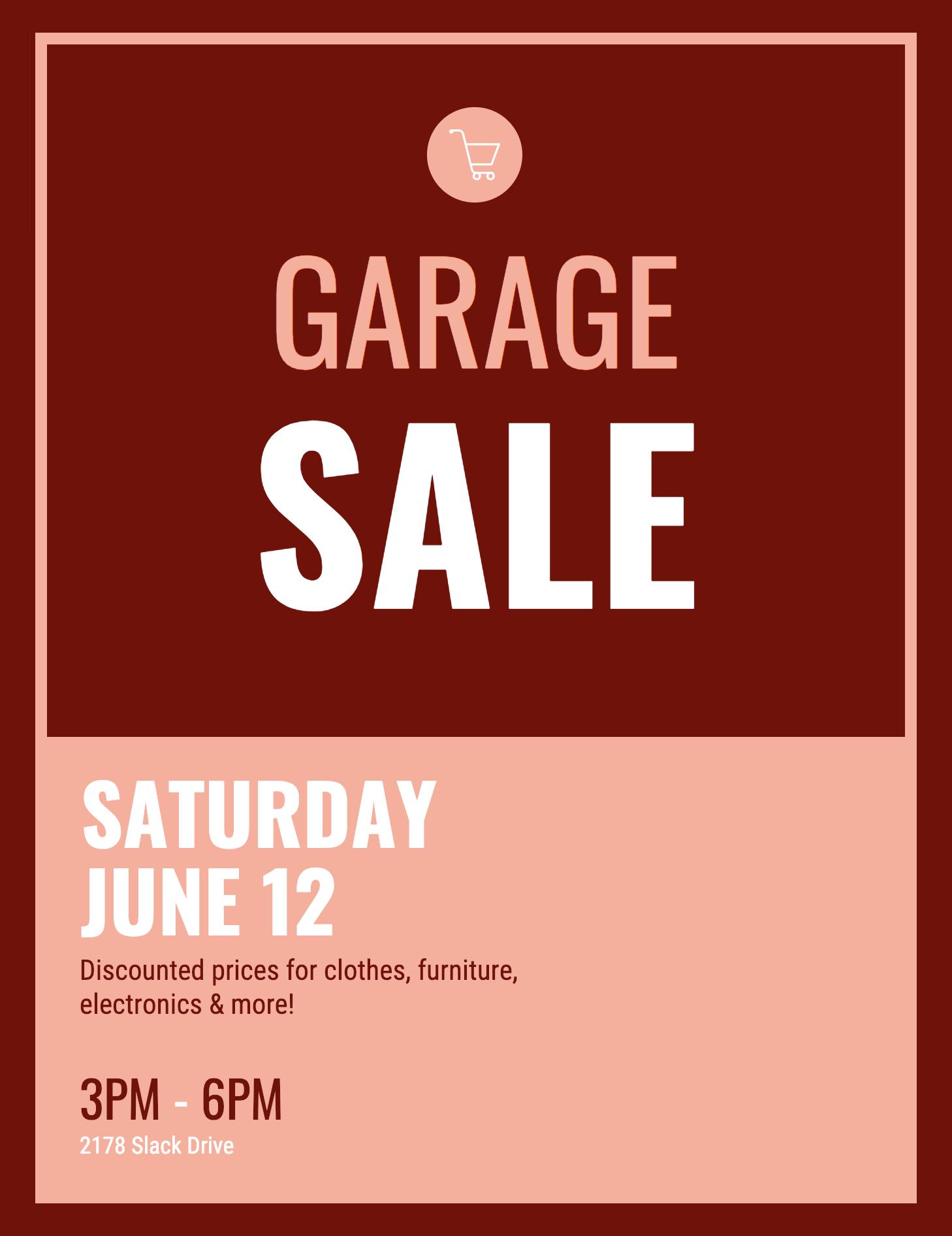 Garage Sale Event Poster Event Poster Event Poster Template Garage Sales