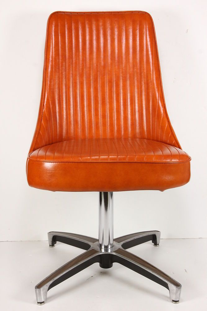 Vintage Mid Century Modern Chromcraft Swivel Chair Retro
