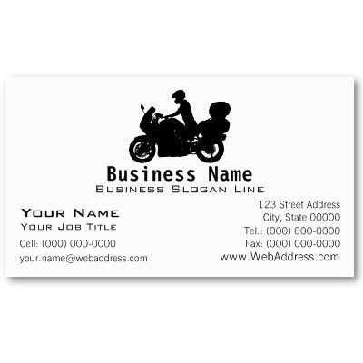 Touring Motorcycle Business Card Business Card Design Ideas